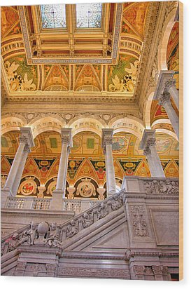 Library Of Congress II Wood Print by Steven Ainsworth
