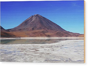 Wood Print featuring the photograph Licancabur Volcano, Bolivia by Aidan Moran