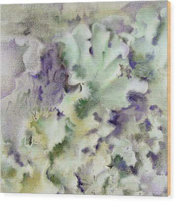 Lichen Wood Print by Mindy Lighthipe