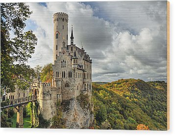 Lichtenstein Castle Wood Print by Ryan Wyckoff