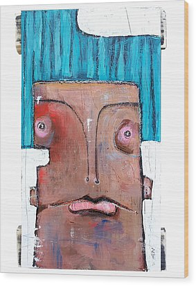 Life As Human Number Six Wood Print by Mark M  Mellon