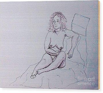Life Drawing Nude Wood Print