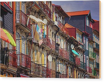 Wood Print featuring the photograph Life In Ribeira Porto  by Carol Japp