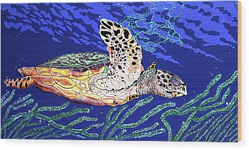 Life In The Slow Lane Wood Print by Debbie Chamberlin