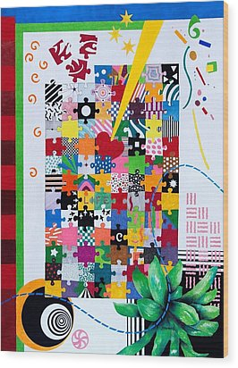 Life Is A Puzzle Wood Print by Thomas Gronowski