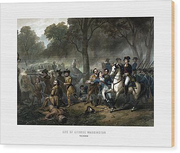 Life Of George Washington - The Soldier Wood Print by War Is Hell Store