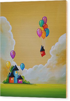 Life Of The Party Wood Print by Cindy Thornton