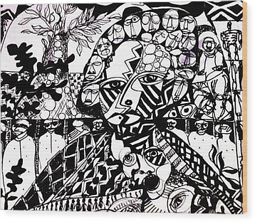 Life Or Death Wood Print by Robert Daniels