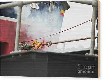 Lifeboat Chocks Away  Wood Print