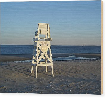 Lifeguard Chair  Wood Print by Margie Avellino