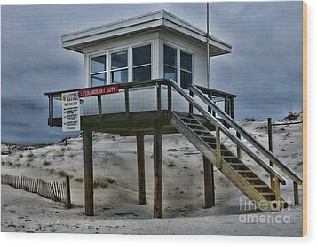 Wood Print featuring the photograph Lifeguard Station 2  by Paul Ward