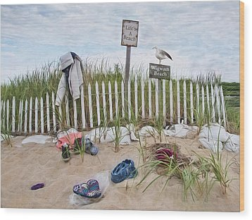 Wood Print featuring the photograph Life's A Beach by Robin-Lee Vieira