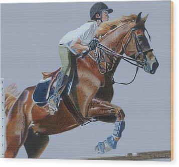 Horse Jumper Wood Print