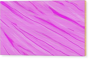 Light And Dark Pink Swirl Wood Print by Linda Velasquez