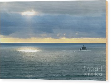 Wood Print featuring the photograph Light And Lighthouse by Suzette Kallen