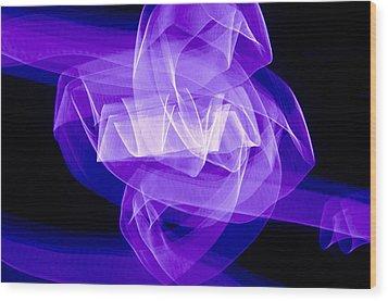 Light Bulb Purple Wood Print