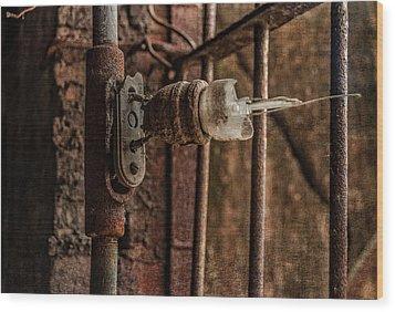 light bulb Sloss Wood Print by Phillip Burrow