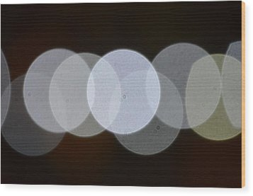 Light Cells Wood Print by Riad Belhimer
