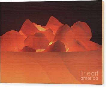 Light Wood Print by Christine Amstutz