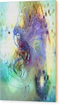 Light Dancer Wood Print by Ragen Mendenhall