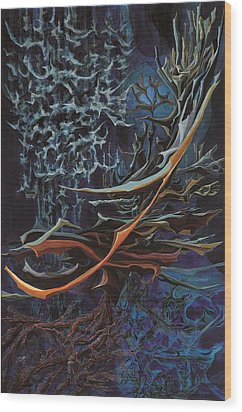 Light In The Depth Wood Print by Charles Cater