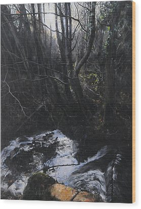 Light In The Woods Wood Print
