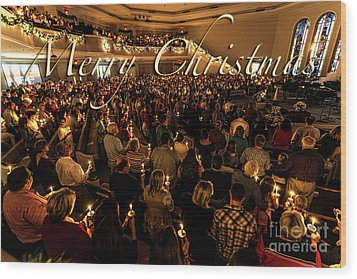 Wood Print featuring the photograph Light Of Christmas by Anthony Baatz