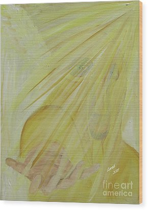 Light Of God Enfold Me Wood Print
