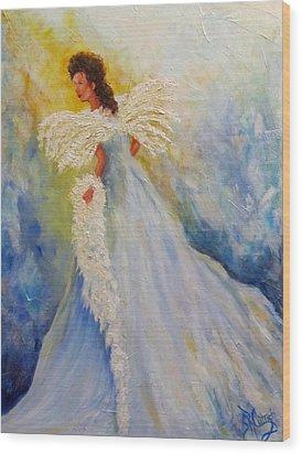Light Of Grace,angel Wood Print