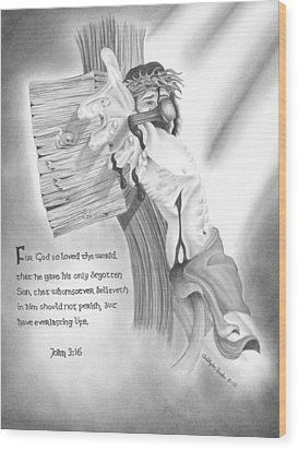 Light Of Salvation Wood Print by Christopher Brooks
