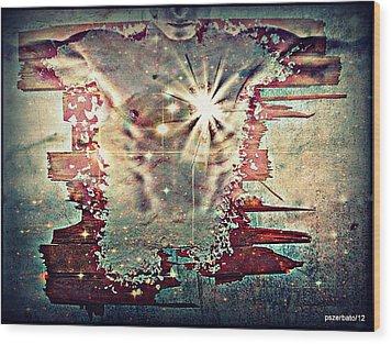 Light Of The Heart Wood Print by Paulo Zerbato