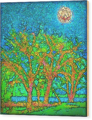 Wood Print featuring the digital art Light Of The Radiant Sun - Trees In Boulder County Colorado by Joel Bruce Wallach
