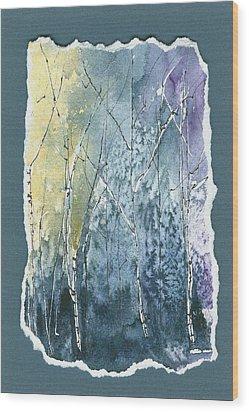 Light On Bare Trees 2 Wood Print