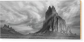 Wood Print featuring the photograph Light On Shiprock by Jon Glaser