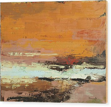 Light On The Horizon Wood Print by Nathan Rhoads