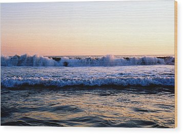 Wood Print featuring the photograph Light On The Wave Tops 4 by Lyle Crump