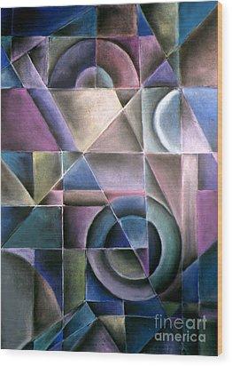 Light Patterns 1 Wood Print