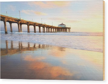 Light Reflections Wood Print by Nicki Frates