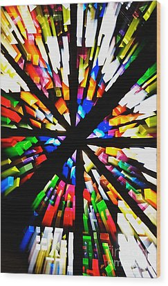 Light Splash Wood Print by Hideaki Sakurai