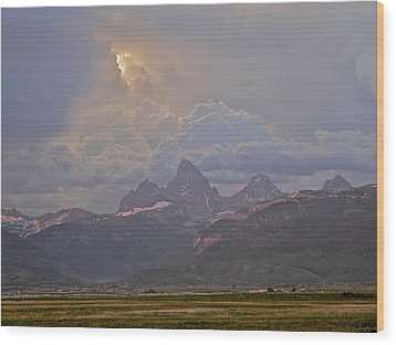 Light Storm Wood Print by Eric Tressler