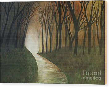 Wood Print featuring the painting Light The Path by Christy Saunders Church