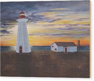 Wood Print featuring the painting Light The Way by Diane Daigle