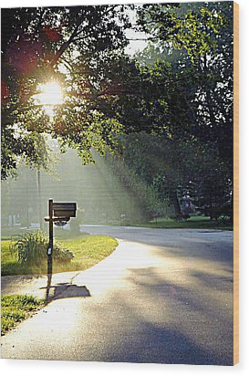 Light The Way Home Wood Print by Guy Ricketts