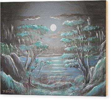 Light Touches Edges Wood Print by M Bhatt