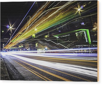Wood Print featuring the photograph Light Trails 1 by Nicklas Gustafsson