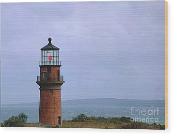 Lighthouse At Dusk- Marthas Vinyard Wood Print