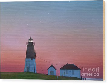 Wood Print featuring the photograph  Lighthouse At Sunrise by Juli Scalzi