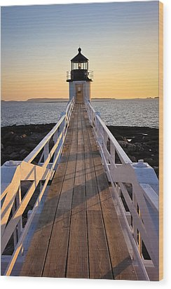 Lighthouse Boardwalk Wood Print by Benjamin Williamson