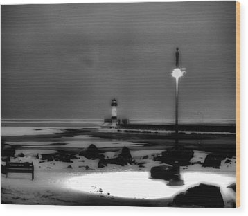 Lighthouse Canal Park Wood Print by Jimmy Ostgard