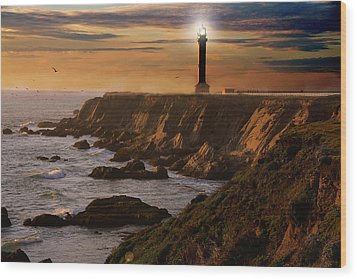 Lighthouse  Wood Print by Harry Spitz